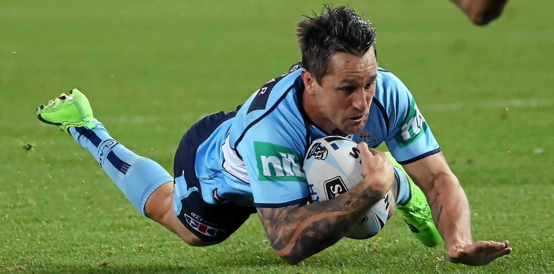 GAME OF TWO HALVES: Mitchell Pearce was outstanding for the Blues in the first half, but where was he in the second?