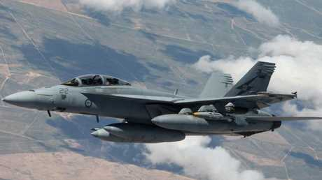 An F/A-18F Super Hornet from No. 1 Squadron in the skies over Iraq
