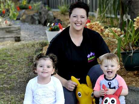 Deborah Brodie's company Ladybug Imports run from her Baulkham Hills home has won a Business Award for most outstanding online business but has also been nominated for two AusMumpreneur Awards for her children's toys Bop Along BuddiesSource:News Corp Australia