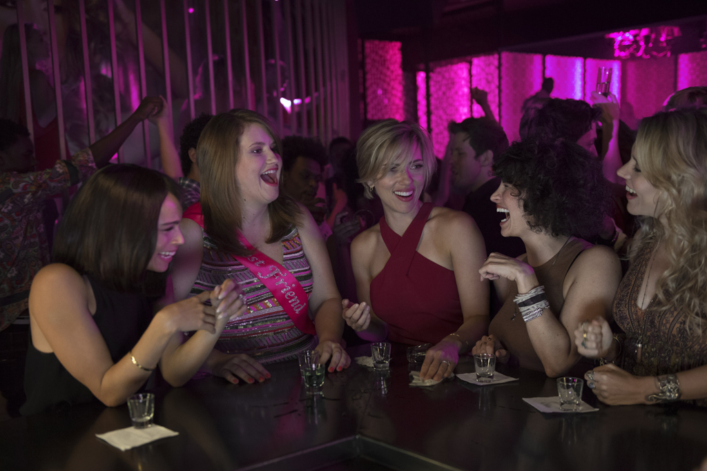 Zoe Kravitz, Jillian Bell, Scarlett Johansson, Illana Grazer and Kate McKinnon in a scene from Rough Night.