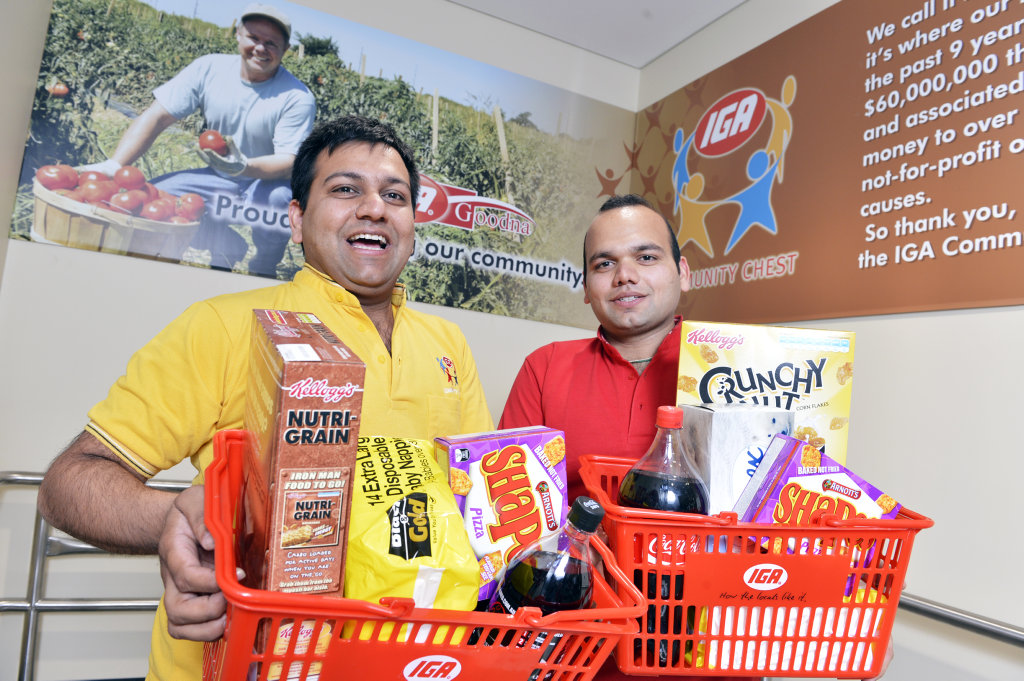 IGA Goodna owners Vishal and Gaurav Bansal. Photo: File