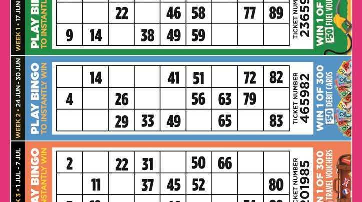 Bonus Bill Busters Bingo Card Inside The Paper Today