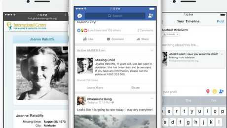 Police partner with Facebook for child abduction alerts