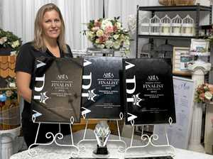 Peta Murphy with the recent accolades earned by Weddings and Events Warwick at the 19th Queensland ABIA awards.