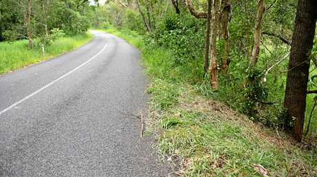 GAP RD: A photo from late 2015 of the scene of a motorcycle crash on the Cedar Pocket Gap Road, Cedar Pocket where a woman was involved in a crash while riding a Yamaha Star 650cc.