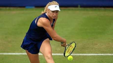 Daria Gavrilova had a rollercoaster 7-5 2-6 6-4 win over Czech Katerina Siniakova.