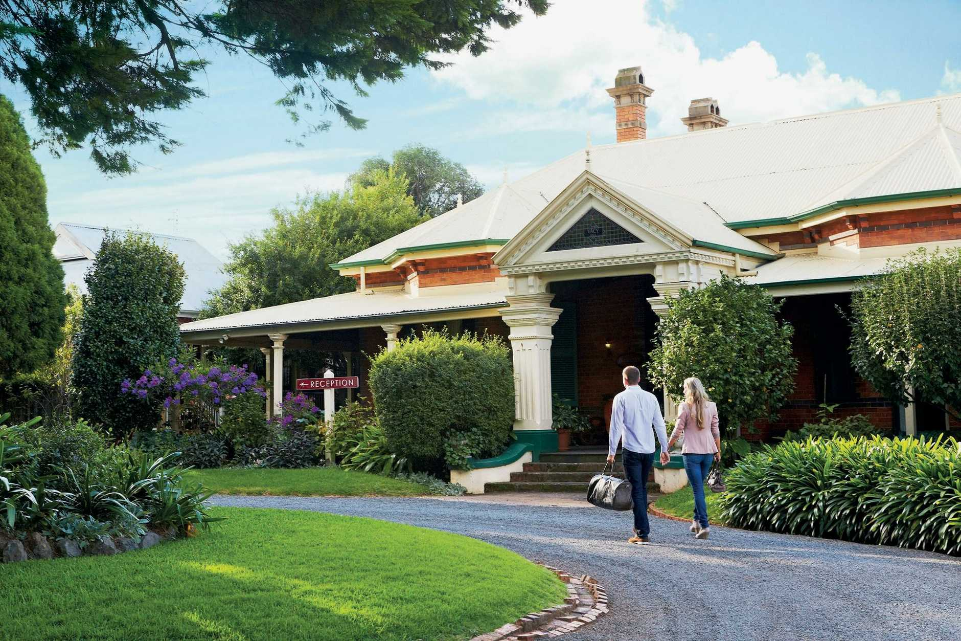 COUNTRY STAY: Vacy Hall, built in 1899, operates as a guesthouse today with the main section of the building refurbished in the late 1980s into guestrooms.    PIC: Tourism & Events Queensland