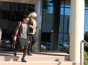 Sharon Lee Brown, 52, (right) leaves Maroochydore Court House with a two-year-probation order for defrauding 81-year-old Bruce Dale, who died in 2015.