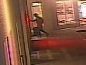VIDEO: Gun-wielding Rocky pizza shop robber on the loose
