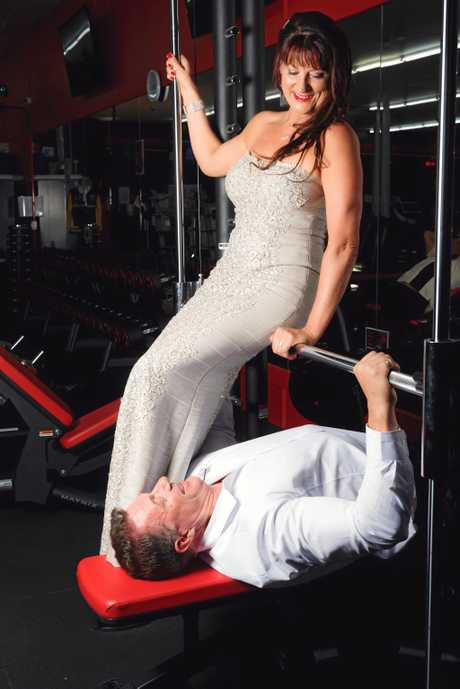 Nothing would stop a workout on their wedding day.
