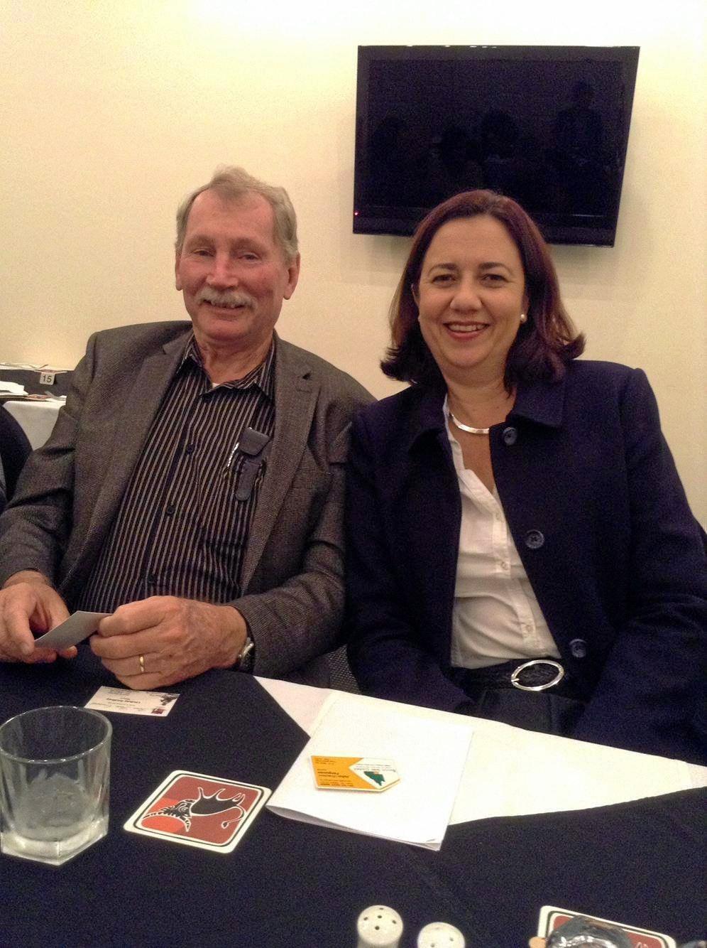 Denis Cook with Queensland Labor premier Annastacia Palaszczuk.