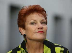Pauline Hanson takes on Adani over rail line
