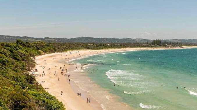 The stunning Clarke's Beach in Byron Bay.