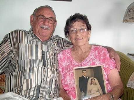 Cloyde and Julia Bate celebrate 60 years of wedded bliss.