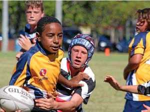 Austin Kombo has a natural ability for rugby union.