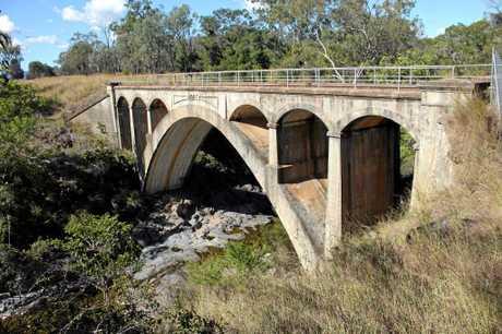 Heritage-listed Chowey Bridge is north-west of Biggenden