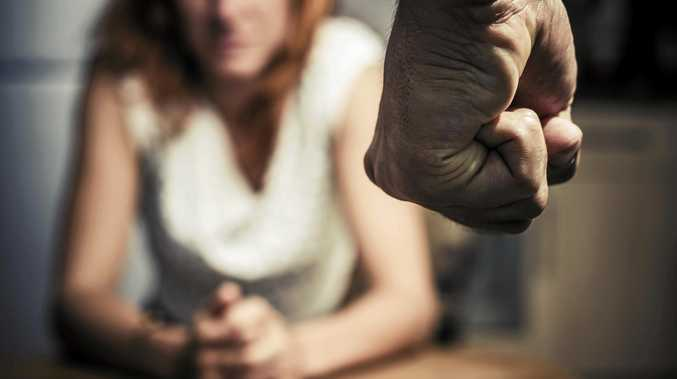 The man told his former wife he would use degrading pictures as 'insurance' after abusing her.