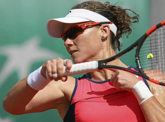 HAND INJURY: Samantha Stosur has pulled out of Wimbledon.