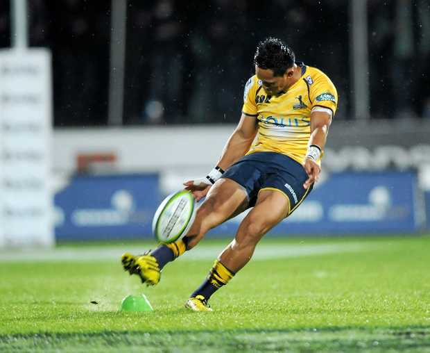 MIRACLE MAN: Christian Lealiifano is back on the field after beating leukemia.
