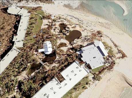 Northern Daydream Island after Cyclone Debbie. 01/04/2017.