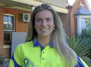 Jacaranda Queen candidate Brielle Lentfer, sponsored by Matthew Cooper Plumber Drainer and Grafton Skin and Laser Clinic.