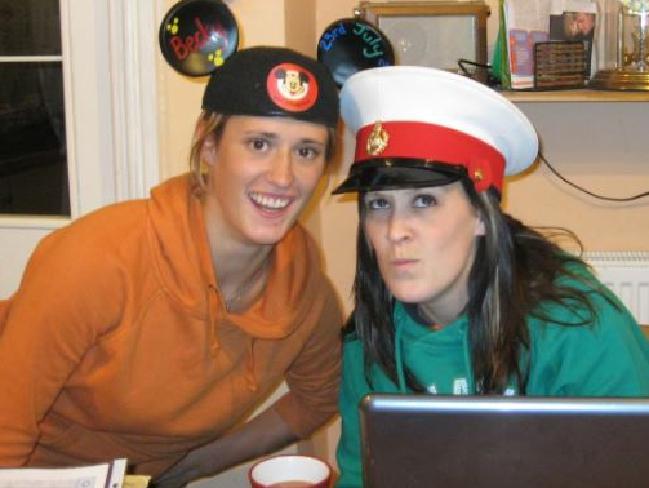 Rebecca Coriam, left, and sister, Rachael. Picture: Facebook