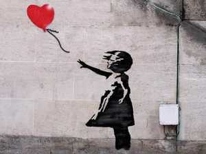 Banksy's 'The girl with a balloon.'