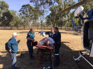 Man airlifted after trampled by bull