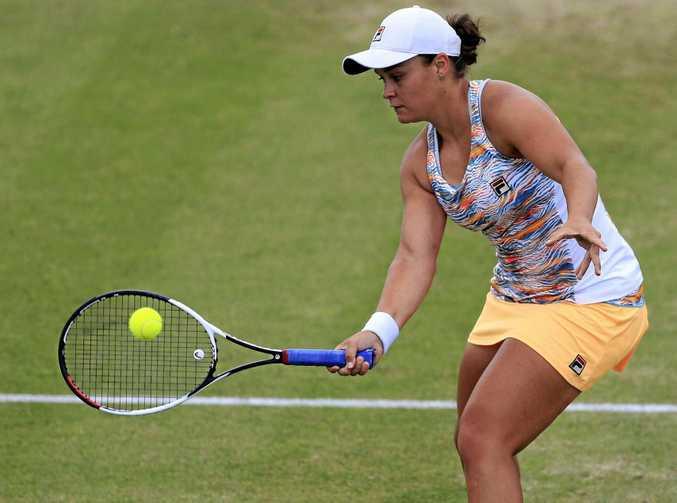 Australia's Ashleigh Barty in action.