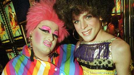 Melbourne drag queen Feral Beral, right, pictured with fellow performer White Chocolate, was a friend of Drew Dax.