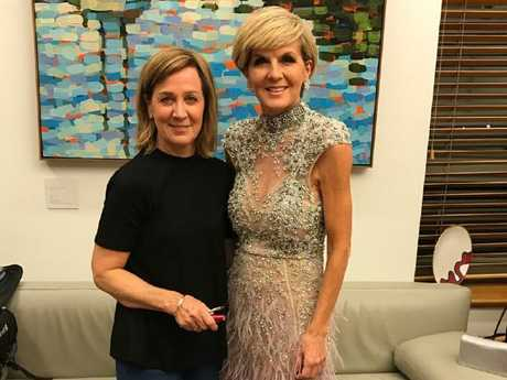 Vicky and Julie Bishop together before last week's Midwinter Ball.