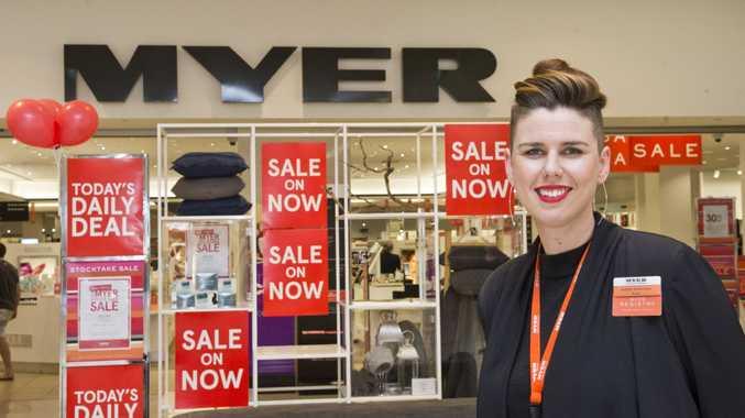 Sophie Robertson, store manager, Myer . Thursday, 22nd Jun, 2017.