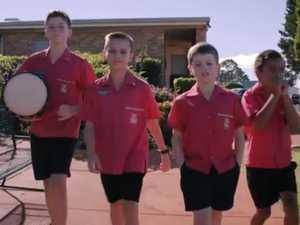 Sacred Heart kids entertain through song