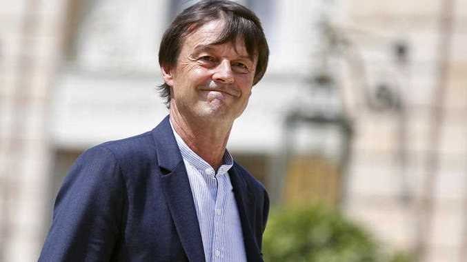 French Environment Transition Minister Nicolas Hulot leaves the cabinet meeting at the Elysee Palace.