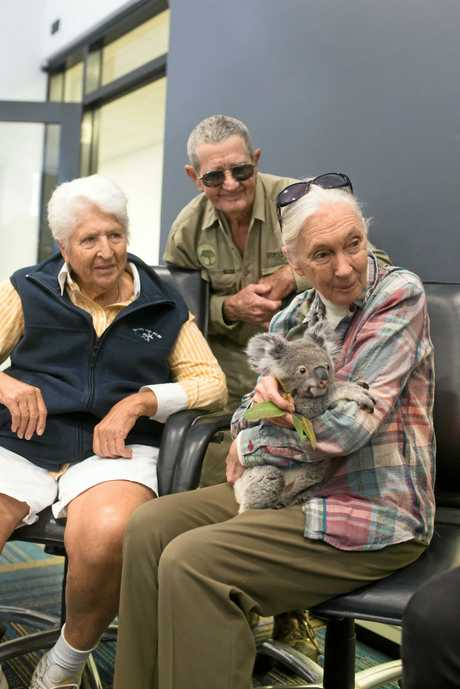 Living legends (from left) Dawn Fraser, Bob Irwin and Dr Jane Goodall.