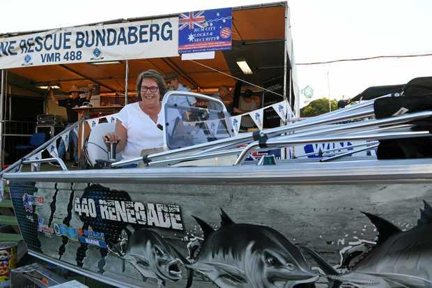 MAJOR WIN: Denise Lee takes home the 440 Renegade at the Bundaberg VMR Family Fishing Classic raffle.