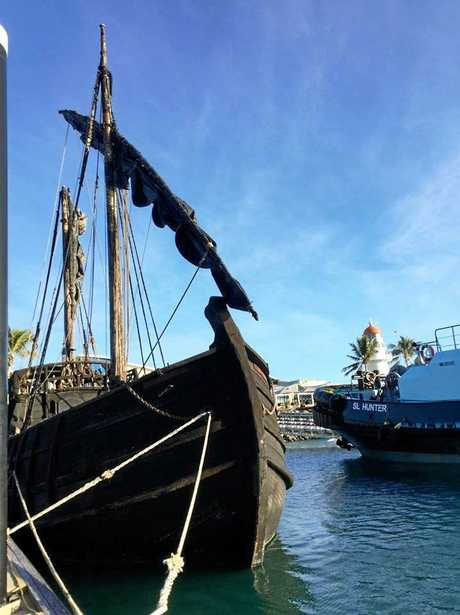 The 'Notorious' ship is open for inspection at the Mackay Marina until July 2.