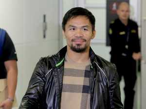 Fired up Manny Pacquiao arrives in Oz for Jeff Horn bout