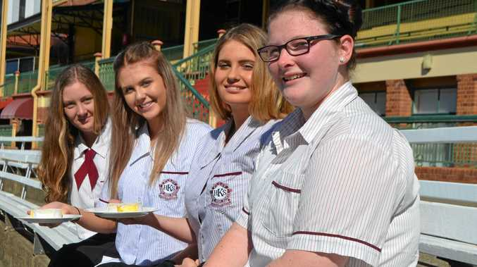 TOP EFFORT: Kilcoy State High School students Maegen Nugent, Chelsea Barrett, Jodie McNaught and Karla Crandall proudly hold the Camembert cheese they helped make, which was entered into the Ekka Student Made Cheese Competition.
