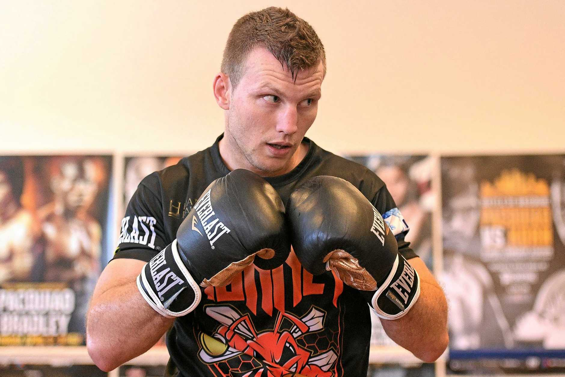 Jeff Horn during a training session in Brisbane, on Monday, June 26, 2017. Boxer Jeff Horn will fight Manny Pacqucao in the