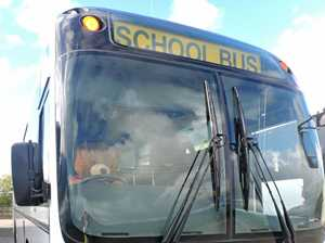 Trainee Bus Monitor Big Ted takes the kids to school.