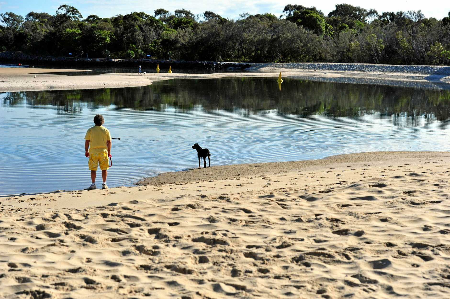 Noosa Dog Beach at the Spit is completed.  Photo Geoff Potter / Noosa News.