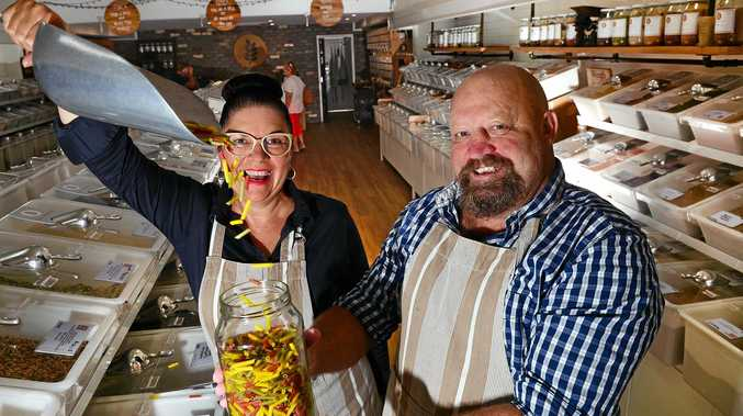Suzie Morris and Norm Foord of The Source Bulk Foods in Caloundra.