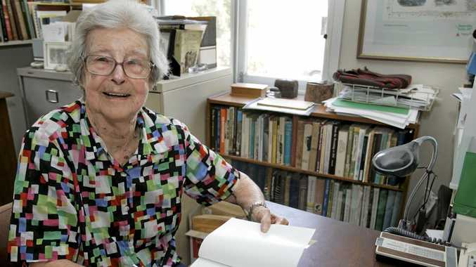 Social historian Dr Lorna McDonald has died aged 100. Dr McDonald was a respected historian who published 21 books focused on Rockhampton and Central Queensland history. Photo Sharyn O'Neill / The Morning Bulletin