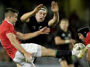 TOUGH TEST: All Blacks Brodie Retallick attempts to charge down British and Irish Lions Conor Murray's kick during the first test between the British and Irish Lions and the All Blacks.