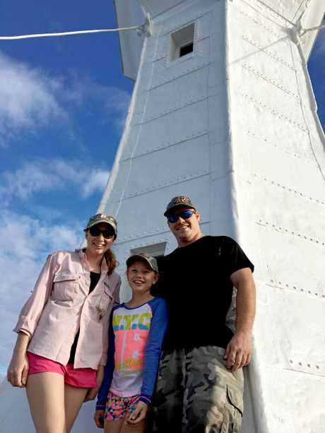 A family who enjoyed the walk and visit to the North Head lighthouse at the weekend were Jessica, Isabella and Dominic Lote.