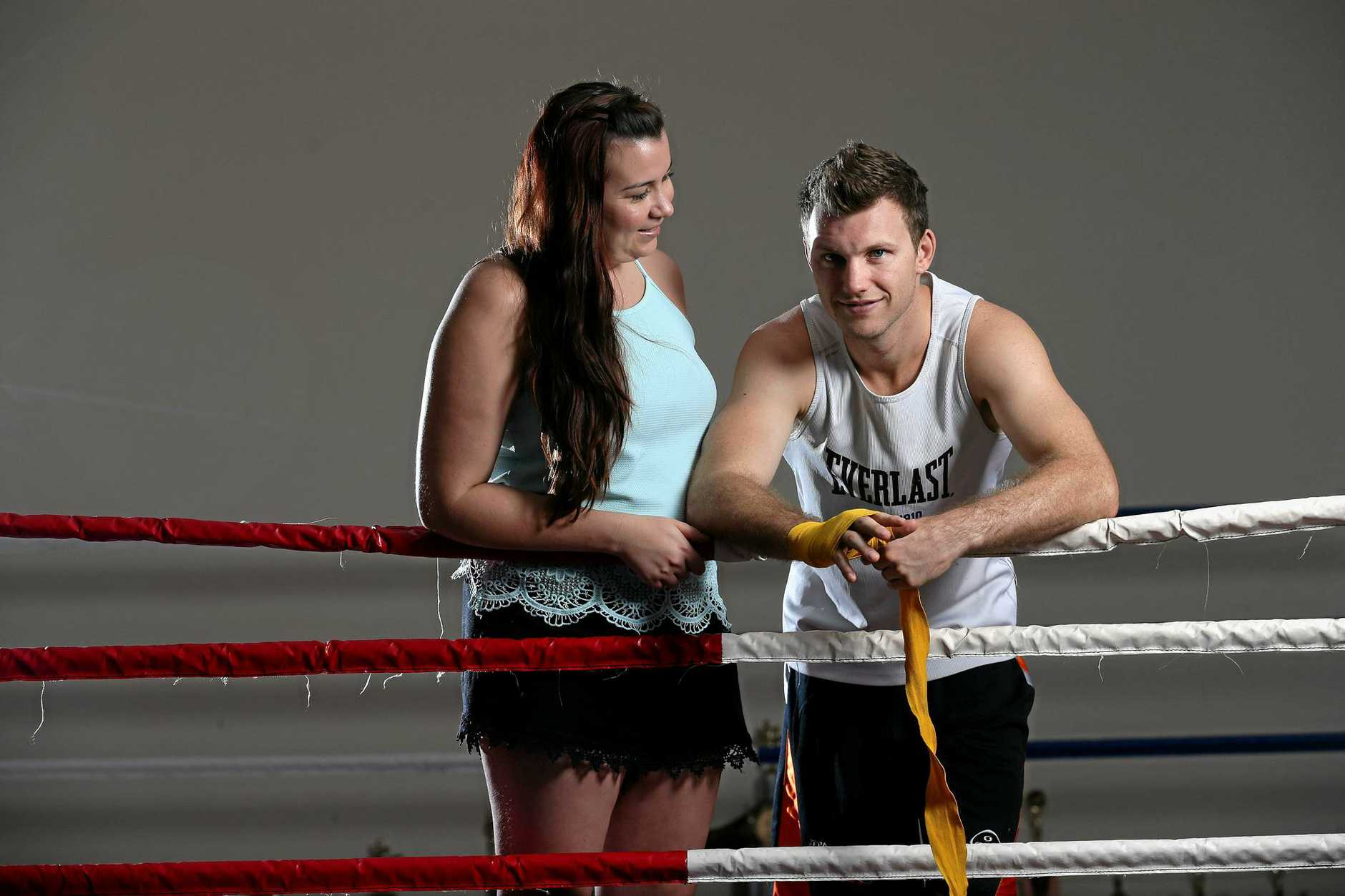 LIFE PARTNERS: Jeff Horn with wife Jo.