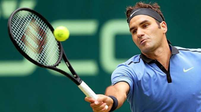 TITLE WIN: Roger Federer beat Alexander Zverev to win the Halle Open for a record setting ninth time.
