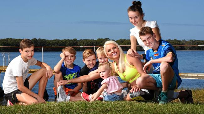 Brenda Ashley has seven kids and looks fit and healthy. She credits running, drinking lots of water and milk to keep to her figure. Picture: John Gass