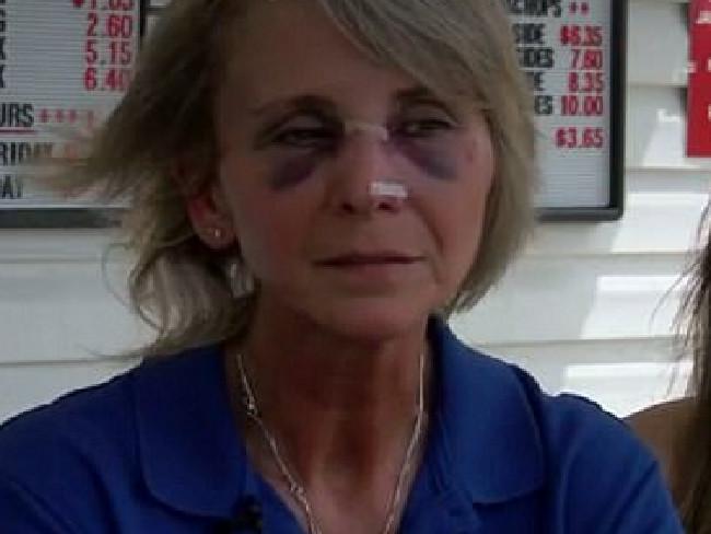 Restaurant owner Jeanette Norris was brutally bashed.